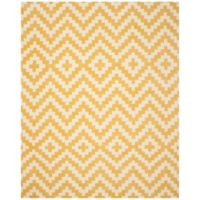 Safavieh Cambridge 8-Foot x 10-Foot Carly Wool Rug in Ivory and Gold