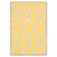 Safavieh Cambridge 2-Foot x 3-Foot Lexie Wool Rug in Gold/Ivory