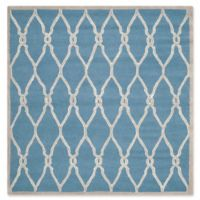 Safavieh Cambridge 6-Foot x 6-Foot Lexie Wool Rug in Navy /Ivory