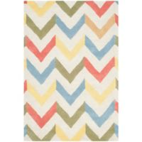 Safavieh Cambridge 3-Foot x 5-Foot Briana Wool Rug in Ivory/Multi