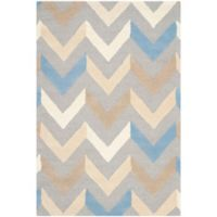 Safavieh Cambridge 4-Foot x 6-Foot Briana Wool Rug in Grey/Ivory