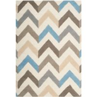 Safavieh Cambridge 4-Foot x 6-Foot Briana Wool Rug in Ivory/Grey