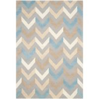 Safavieh Cambridge 6-Foot x 9-Foot Briana Wool Rug in Grey/Ivory