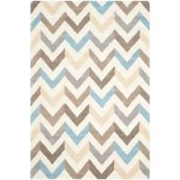 Safavieh Cambridge 6-Foot x 9-Foot Briana Wool Rug in Ivory/Grey