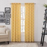 Pairs to Go™ Arlene 84-Inch Rod Pocket Window Curtain Panel Pair in Yellow