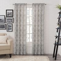 Pairs to Go™ Brockwell 63-Inch Rod Pocket Window Curtain Panel Pair in Charcoal