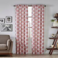 Pairs To Go™ Kesey 95-Inch Rod Pocket Window Curtain Panel Pair in Coral