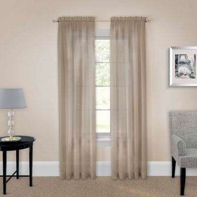 Wonderful Pairs To Go™ Victoria Voile 95 Inch Rod Pocket Window Curtain Panel Pair In