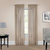 Pairs to Go™ Victoria Voile 95-Inch Rod Pocket Window Curtain Panel Pair in Taupe