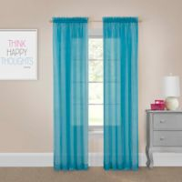 Pairs to Go™ Victoria Voile 95-Inch Rod Pocket Window Curtain Panel Pair in Turquoise