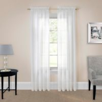 Pairs to Go™ Victoria Voile 95-Inch Rod Pocket Window Curtain Panel Pair in White