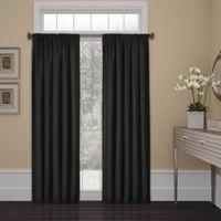 SolarShield® Kate 54-Inch Rod Pocket Room Darkening Window Curtain Panel in Black