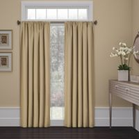 SolarShield® Kate 54-Inch Rod Pocket Room Darkening Window Curtain Panel in Cafe