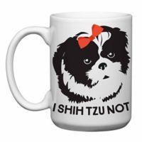 """Love You a Latte Shop """"I Shih Tzu Not"""" Mug in White"""