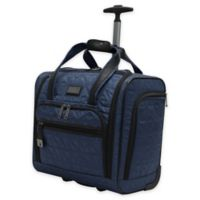 Nicole Miller NY Signature Quilt 16-Inch Wheeled Carry On in Navy