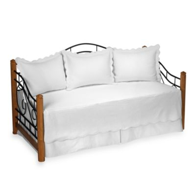 matelasse daybed bedding set in white