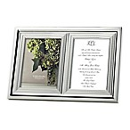 Vera Wang Wedgwood® With Love 5-Inch x 7-Inch Double Invitation Picture Frame
