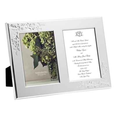 Vera Wang Wedgwood® Vera Lace Bouquet Double 5-Inch x 7-Inch invitation Frame