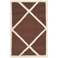Safavieh Cambridge 2-Foot x 3-Foot Zara Wool Rug in Dark Brown/Ivory