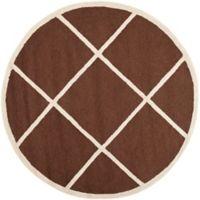 Safavieh Cambridge 6-Foot x 6-Foot Zara Wool Rug in Dark Brown/Ivory