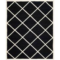 Safavieh Cambridge 8-Foot x 10-Foot Zara Wool Rug in Black/Ivory