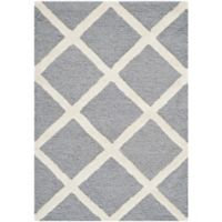 Safavieh Cambridge 2-Foot x 3-Foot Eva Wool Rug in Silver/Ivory