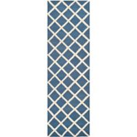 Safavieh Cambridge 2-Foot 6-Inch x 8-Foot Eva Wool Rug in Navy /Ivory