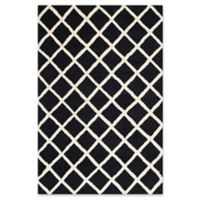 Safavieh Cambridge 4-Foot x 6-Foot Eva Wool Rug in Black/Ivory