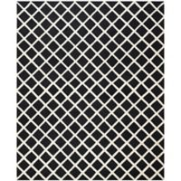 Safavieh Cambridge 8-Foot x 10-Foot Eva Wool Rug in Black/Ivory