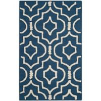 Safavieh Cambridge 2-Foot 6-Inch x 4-Foot Taylor Wool Rug in Navy Blue/Ivory