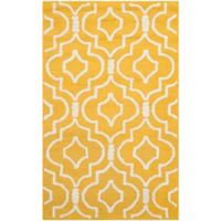 Safavieh Cambridge 2-Foot x 3-Foot Taylor Wool Rug in Gold/Ivory