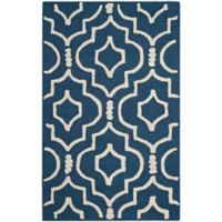 Safavieh Cambridge 2-Foot x 3-Foot Taylor Wool Rug in Navy Blue/Ivory