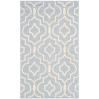 Safavieh Cambridge 2-Foot x 3-Foot Taylor Wool Rug in Light Blue/Ivory