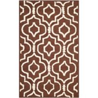 Safavieh Cambridge 2-Foot 6-Inch x 4-Foot Taylor Wool Rug in Dark Brown/Ivory