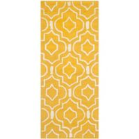 Safavieh Cambridge 2-Foot 6-Inch x 6-Foot Taylor Wool Rug in Gold/Ivory