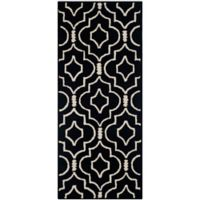 Safavieh Cambridge 2-Foot 6-Inch x 6-Foot Taylor Wool Rug in Black/Ivory
