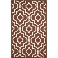 Safavieh Cambridge 3-Foot x 5-Foot Taylor Wool Rug in Dark Brown/Ivory