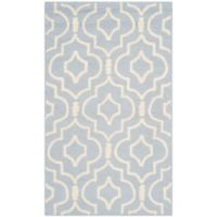 Safavieh Cambridge 3-Foot x 5-Foot Taylor Wool Rug in Light Blue/Ivory