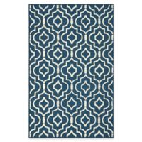 Safavieh Cambridge 5-Foot x 8-Foot Taylor Wool Rug in Navy Blue/Ivory
