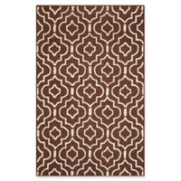 Safavieh Cambridge 5-Foot x 8-Foot Taylor Wool Rug in Dark Brown/Ivory