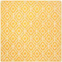 Safavieh Cambridge 6-Foot x 6-Foot Taylor Wool Rug in Gold/Ivory