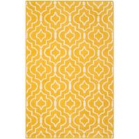 Safavieh Cambridge 6-Foot x 9-Foot Taylor Wool Rug in Gold/Ivory