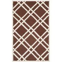 Safavieh Cambridge 2-Foot x 3-Foot Trina Wool Rug in Dark Brown/Ivory