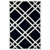 Safavieh Cambridge 2-Foot x 3-Foot Trina Wool Rug in Black/Ivory