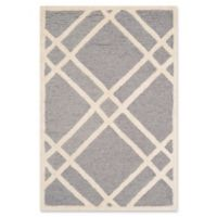 Safavieh Cambridge 2-Foot x 3-Foot Trina Wool Rug in Silver/Ivory