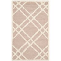 Safavieh Cambridge 2-Foot 6-Inch x 4-Foot Trina Wool Rug in Beige/Ivory