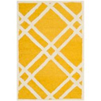 Safavieh Cambridge 2-Foot 6-Inch x 4-Foot Trina Wool Rug in Gold/Ivory