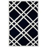 Safavieh Cambridge 2-Foot 6-Inch x 4-Foot Trina Wool Rug in Black/Ivory
