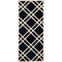 Safavieh Cambridge 2-Foot 6-Inch x 6-Foot Trina Wool Rug in Black/Ivory
