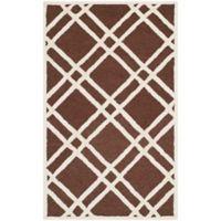 Safavieh Cambridge 3-Foot x 5-Foot Trina Wool Rug in Dark Brown/Ivory